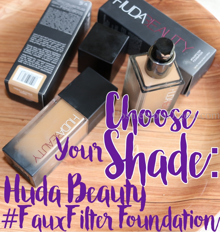 Choosing the Huda Beauty #FauxFilter Foundation Shade - swatches For Olive/Warm/Tan Indian, South Asian, Latino, Filipino, and Middle Eastern Skintones.