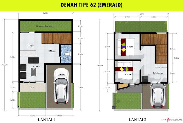 Exotic Panderman Hill: Denah Tipe 62