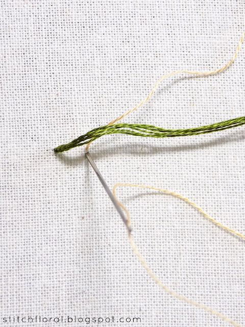 basic couching embroidery
