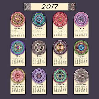 2017カレンダー無料テンプレート99