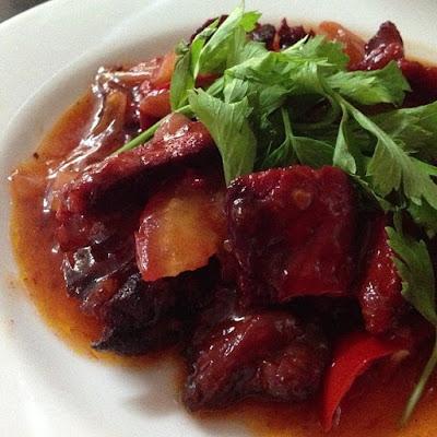 Resepi Ringkas Daging Salai Masak Merah Ala Thai