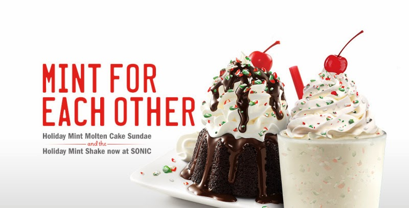 Sonic Is Offering Some Seasonal Flair With Two Minty Desserts The Holiday Mint Shake And Chocolate Molten Cake Sundae