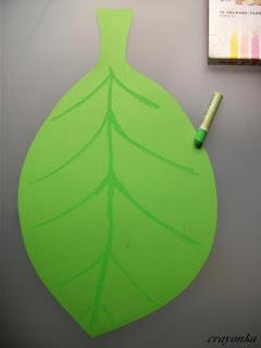 liść wycięty z papieru