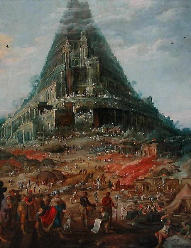 Uma Torre que atingisse os céus feita sem necessidade de Deus:  um pecado coletivo de revolta. Joos De Momper o Jovem (1564–1635)