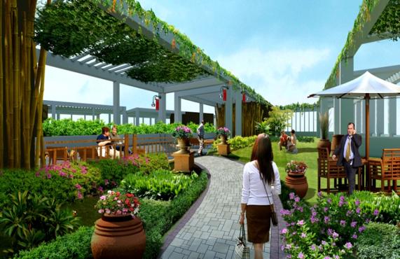không gian xanh mát chung cư 378 Minh Khai