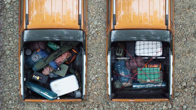 Sắp xếp đồ gọn gàng trên thùng xe bán tải