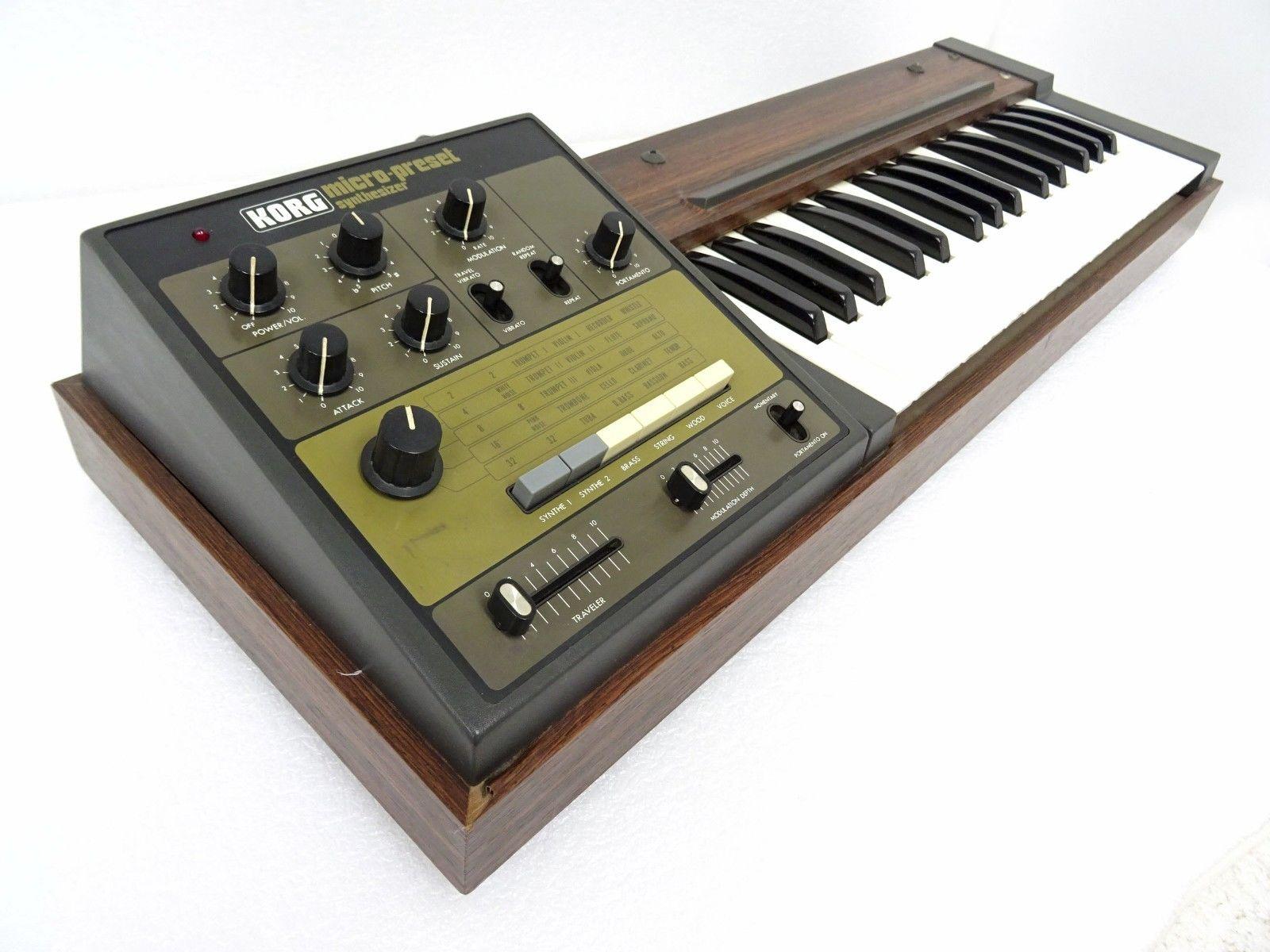 matrixsynth korg m 500sp micro preset vintage analog synth m500 with speaker sn 781345. Black Bedroom Furniture Sets. Home Design Ideas