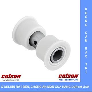 Bánh xe đẩy inox 304 Colson phi 200 chịu lực 450kg sử dụng ổ nhựa delrin