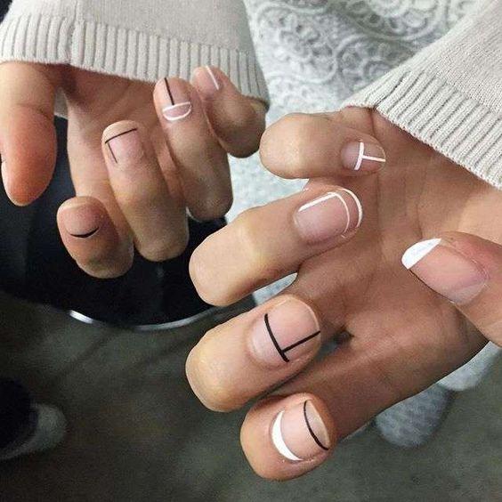 Minimalist Nail Art Idea
