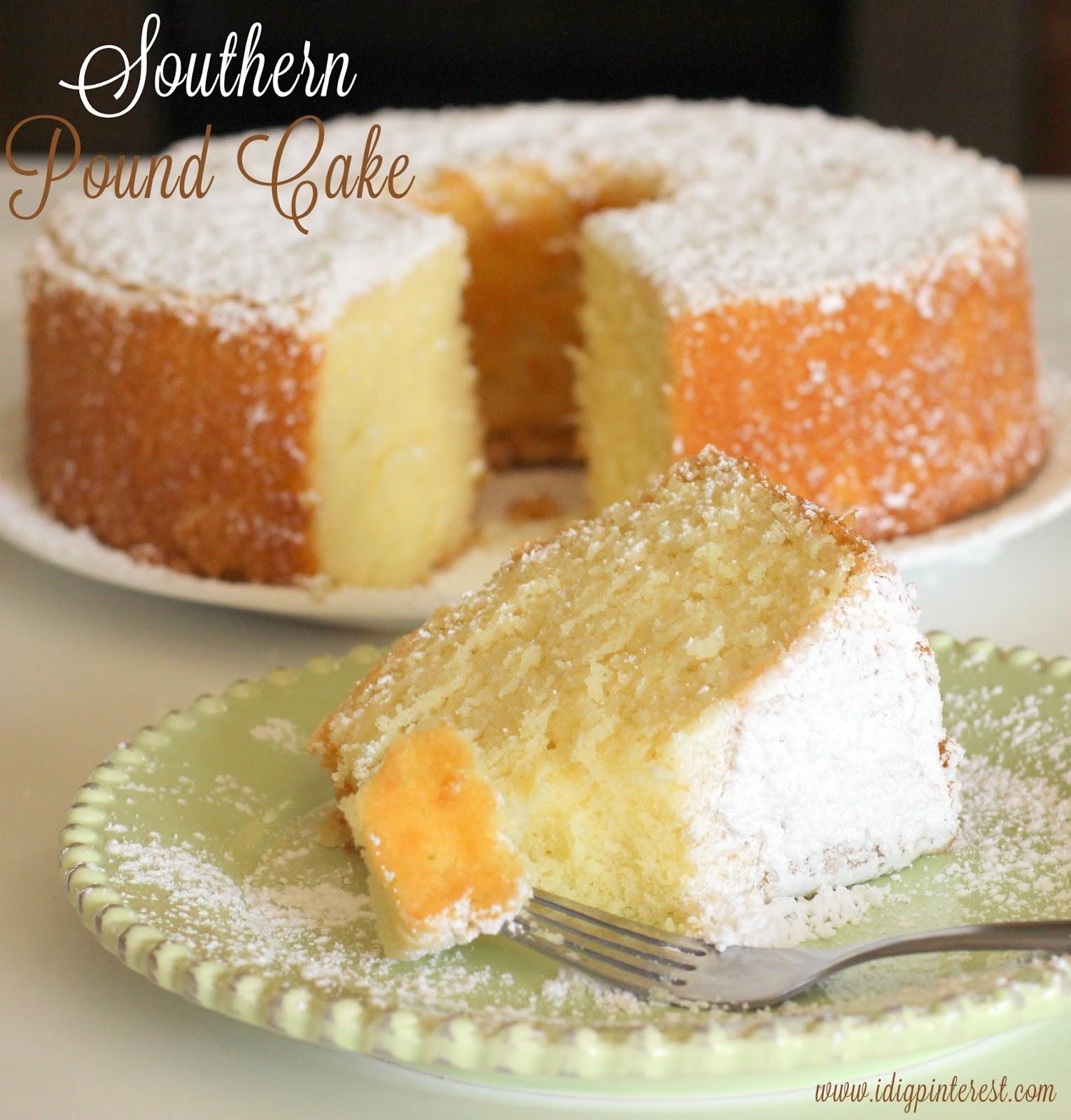 Old Fashioned Southern Lemon Pound Cake