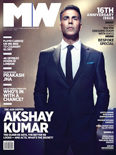 Akshay Kumar Cover Page of Mans World India magazine March 2016
