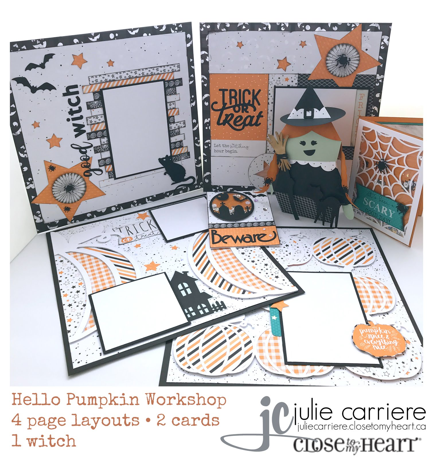 Hello Pumpkin Cardmaking/Scrapbooking/3D Witch