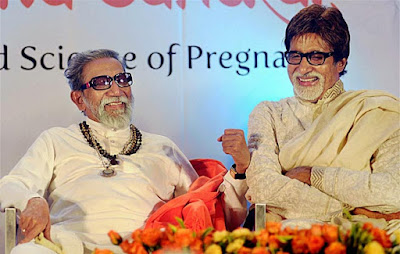 Amitabh Bachchan with Bal Thackeray