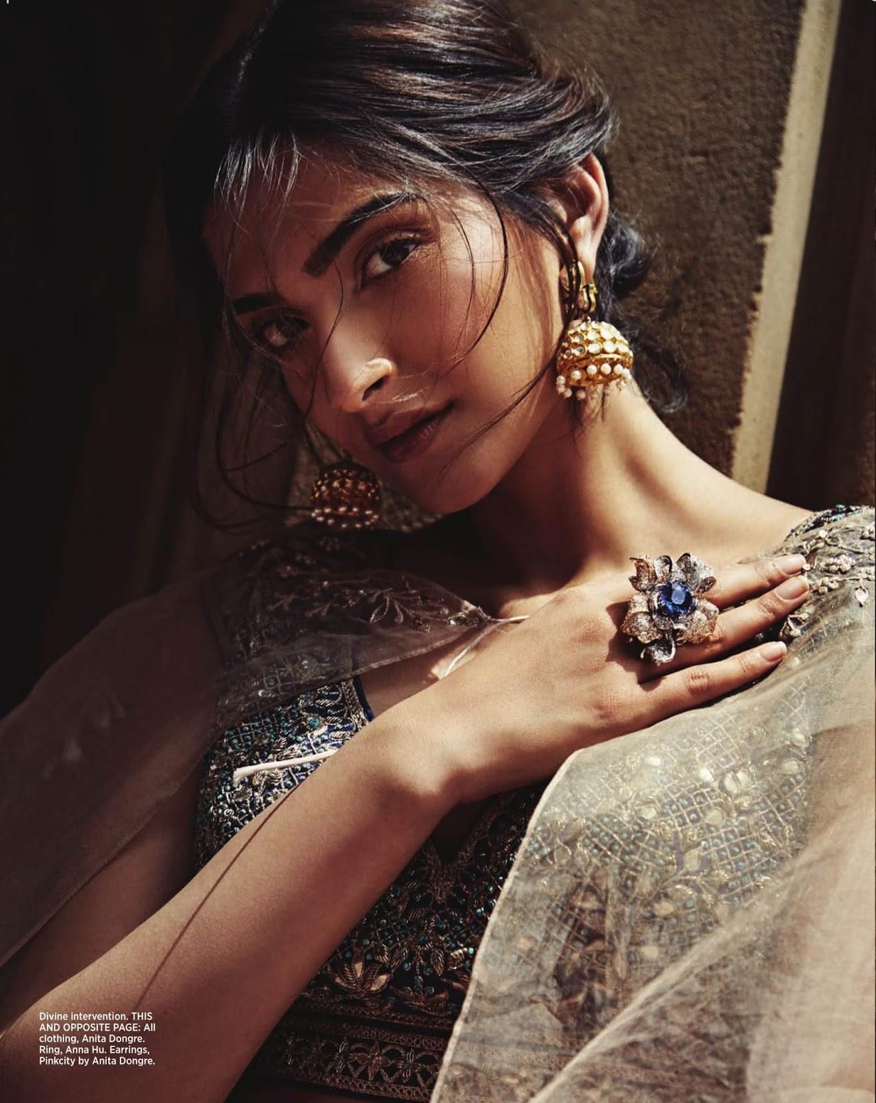 Sonam Kapoor In Anita Dongre On Bazaar Bride