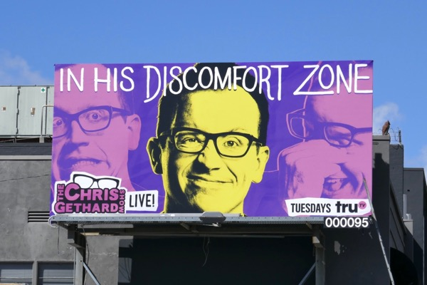 Chris Gethard discomfort zone billboard