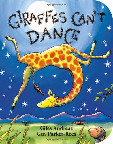 Giraffes Can't Dance, part of book review list of jungle and rainforest books
