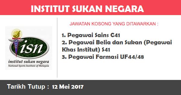 Jawatan Kosong di Institut Sukan Negara (ISN)