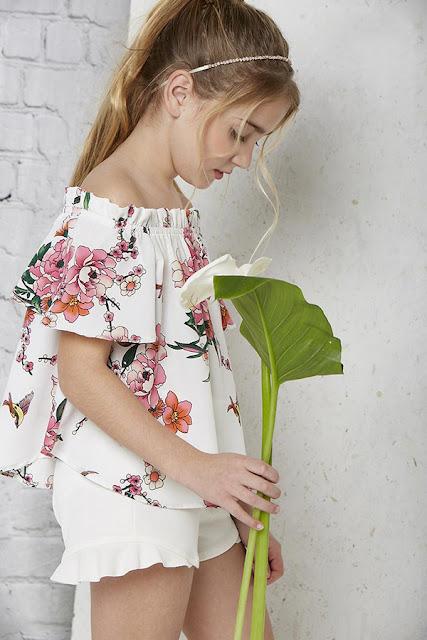 Moda primavera verano 2018 blusas para niñas.