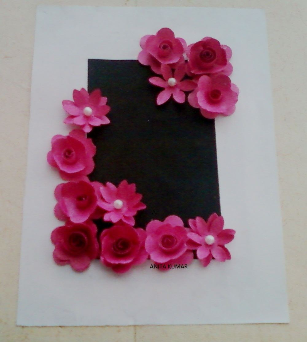 Paper Flower Framed Design Craft Project Ideas And Crafts Art