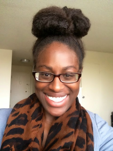 natural hair top knot