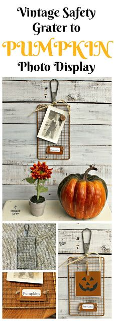Safety Grater to Pumpkin/Jack o'Lantern Decor www.organizedclutter.net