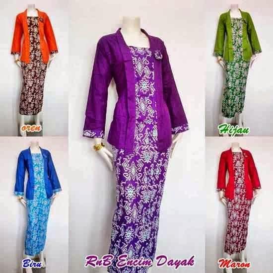 Model Seragam Baju Batik Setelan Rok Panjang Dan Blus