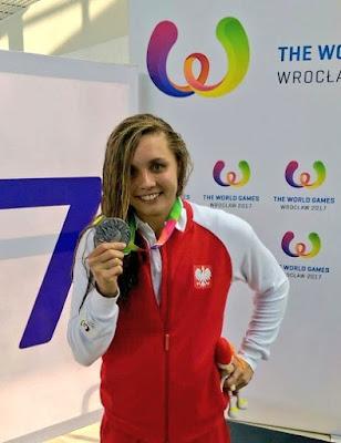 Alicja Tchorz dio la primera medalla en Juegos Mundiales 2017 a Polonia, el país sede.