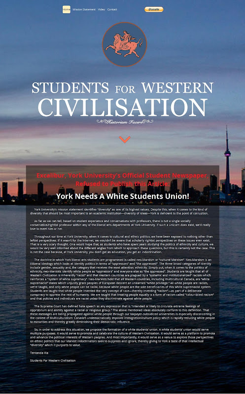 Students For Western Civilisation Website