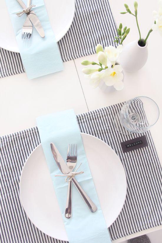 jednoduché dekorace na stůl
