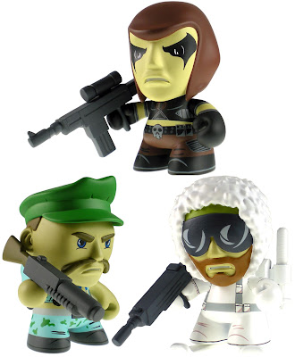 G.I. Joe Mini Figure Series 1 by The Loyal Subjects - Zartan, Gung-Ho & Snow Job Vinyl Figures