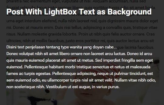 Cara Membuat Tombol Teks LightBOX