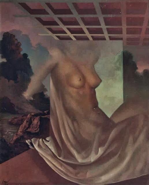 José Marí pintura surrealista arte mujer lienzo