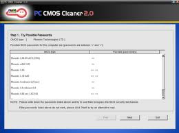 pc cmos cleaner gratuitement
