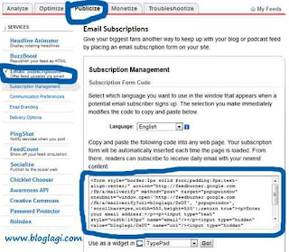 Cara Membuat RSS Feed di Blog 3