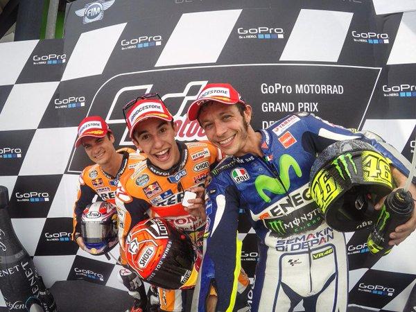 Rossi declara la guerra a Márquez con las GoPro