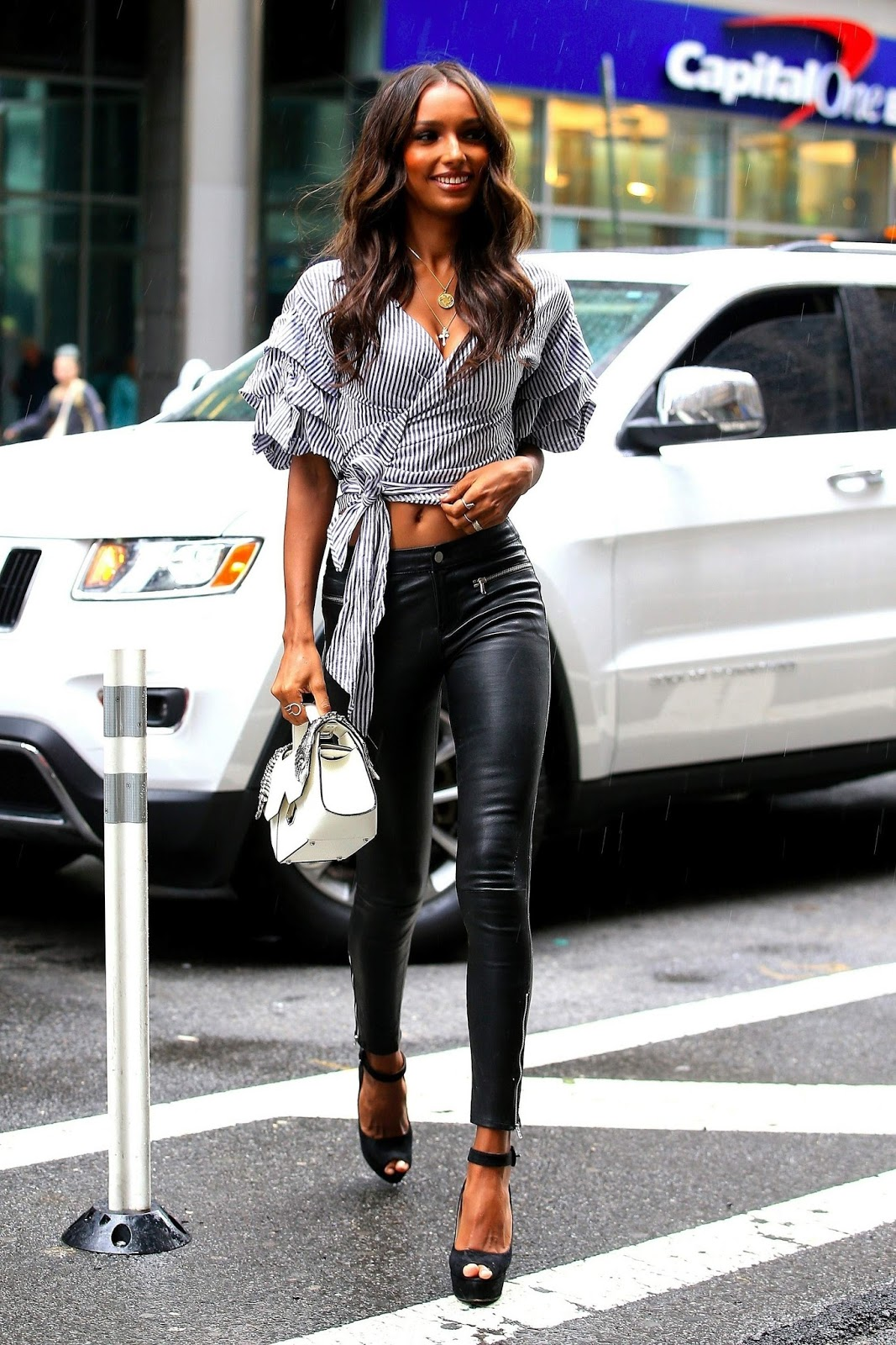 Lovely Ladies in Leather: Jasmine Tookes in leather pants