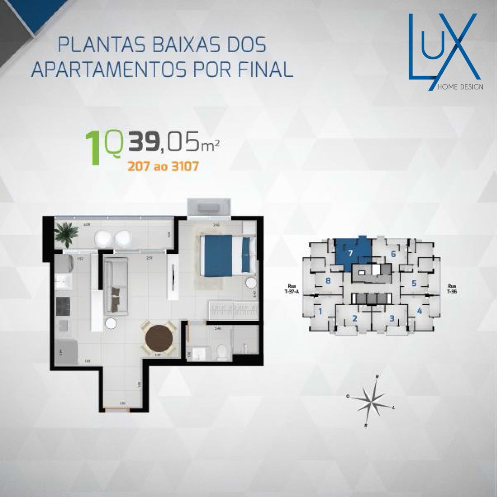 R$ 259.610,09 | Apartamento compacto de Luxo com vista para a ...