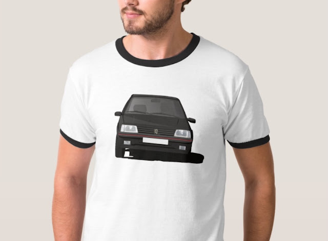 Peugeot 205 GTi t-shirt black illustration