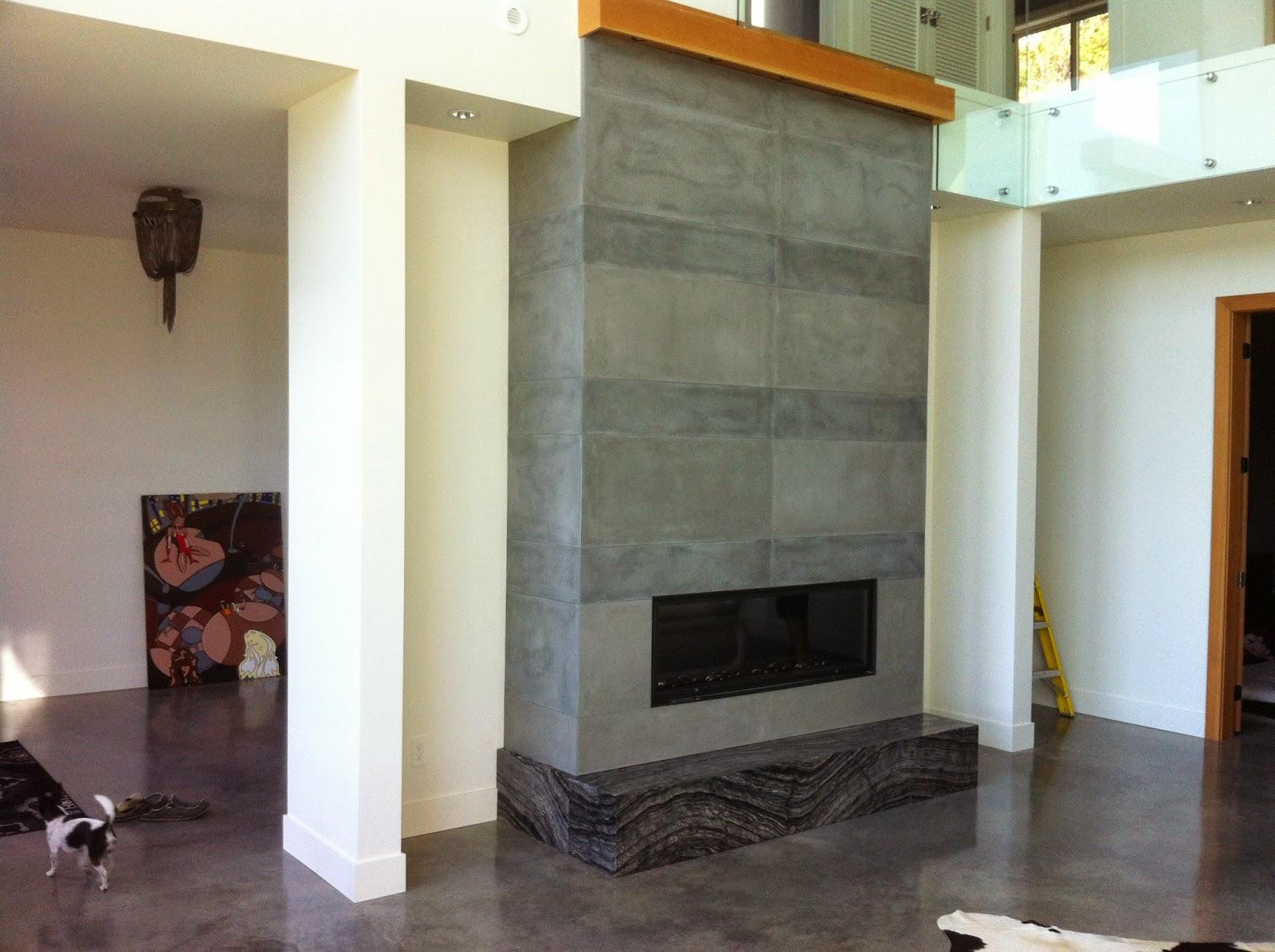 MODE CONCRETE: Contemporary Concrete Fireplace Tiles are ...