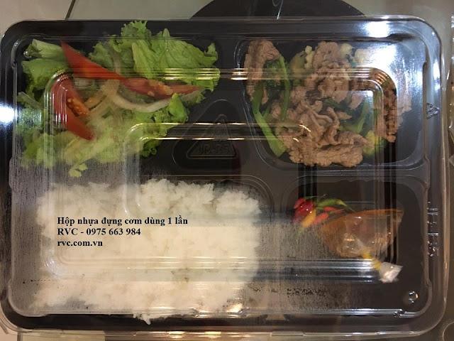 hộp nhựa 5 ngăn
