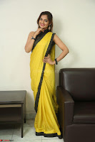 Cute Actress Ashwini in Yellow Saree Exclusive  050.JPG