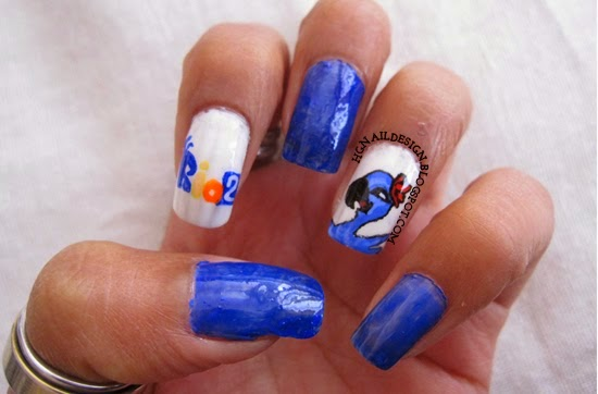 http://hgnaildesign.blogspot.com/2014/04/rio-2-movie-nail-art.html