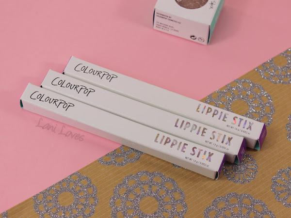 ColourPop Lippie Stix - Aquarius, Mosh Pit and TGIF Swatches & Review