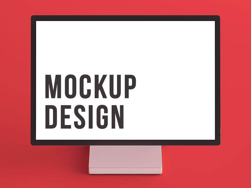 Computer Screen Mockup Creative Design