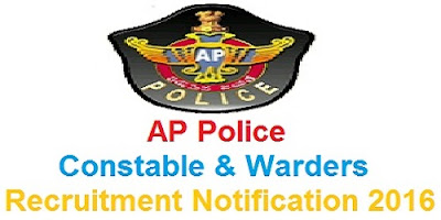 AP Police Constable & Warder (Prisons) Recruitment 2016