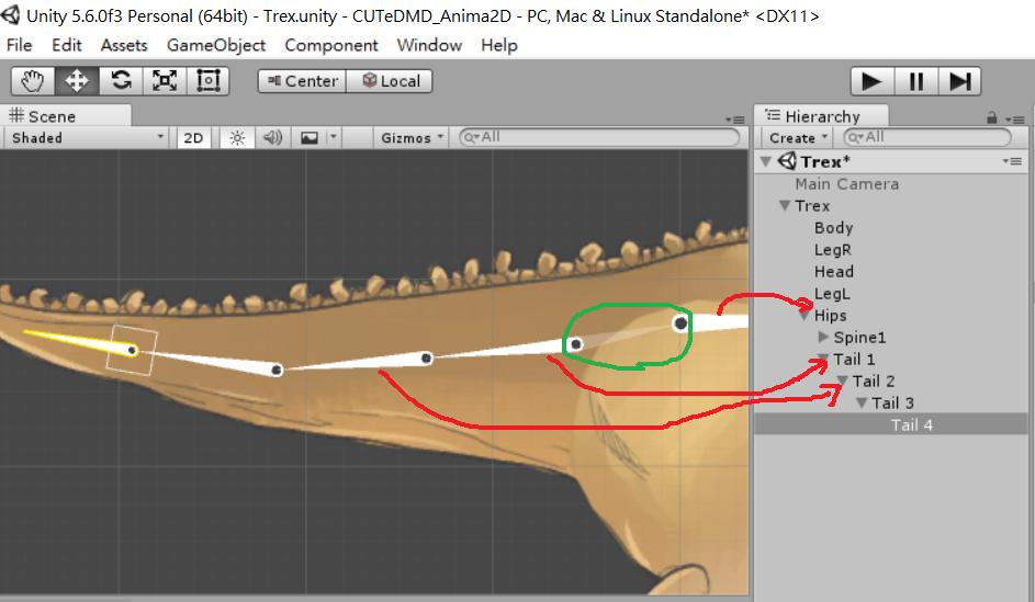 拎老師部落格-: Unity Anima2D 教學-part2 Mesheditor、綁骨架