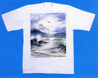 Camisa pintada personalizada e exclusiva