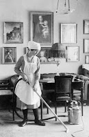 Maid cleaning, 1912