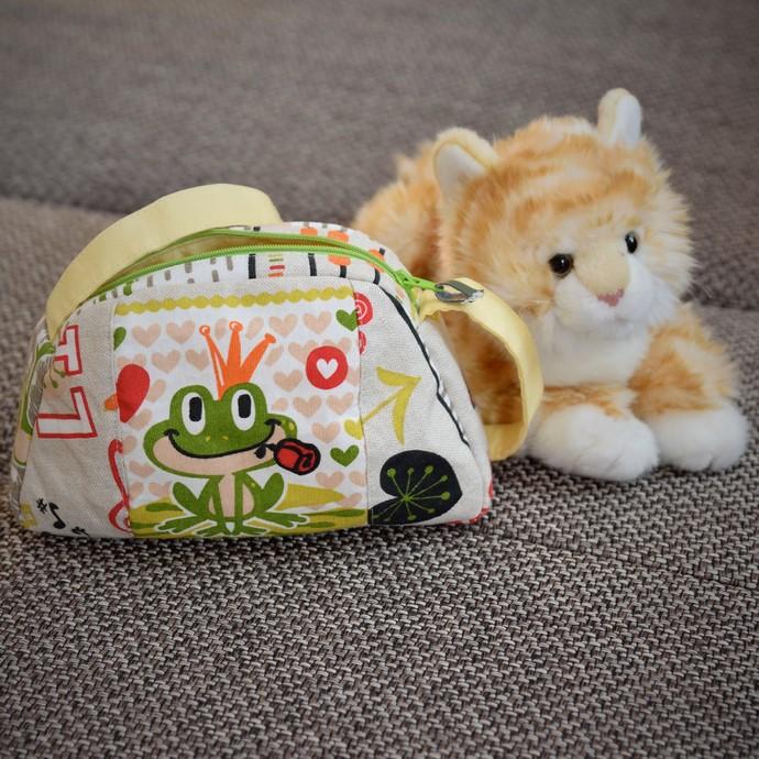 Verkleinerte HerzMuschel Tasche(nach Taschenspieler4 von Farbenmix): verkleinert auf 60%, aus Kinderstoff