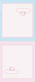 Para hacer invitaciones, tarjetas, marcos de fotos o etiquetas, para imprimir gratis de Lluvia de Bendiciones en Rosa y Celeste.